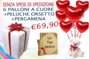 big love 6 palloncini a cuore