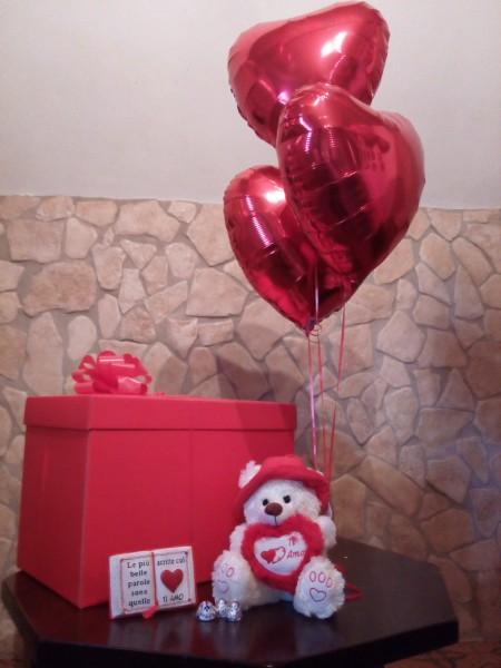 Super Palloncini a cuore, per Amare, un regalo a sorpresa KF05