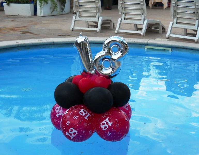 18 anni palloncini volanti scatole a sorpresa for Addobbi per feste in piscina